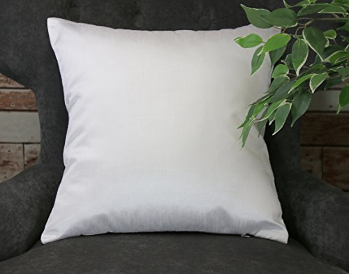 Creative Faux Silk Solid Euro Sham / Pillow Cover 26 by 26 - Pure (Collection Pillow Sham)