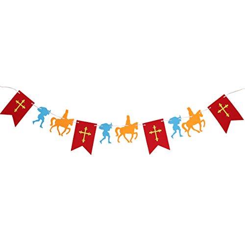 BESTOYARD 3M Length Halloween Non-Woven Pull Flag Banner Hanging Flag Props Pull Flowers for Saint Nicolas