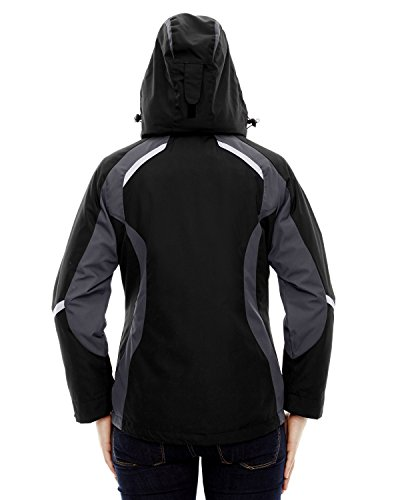 North End Height Ladies 3-In-1 Insulated Liner Jacket, Black, XXX-Large by Ash City - North End