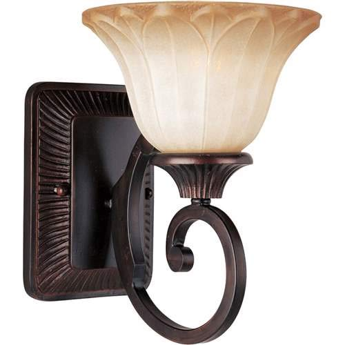 - Maxim Lighting Allentown Oil Rubbed Bronze 1-Light Wall Sconce 13511WSOI