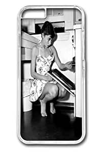 iPhone 6 Cases & Covers -Audrey Hepburn Cooking Custom PC Hard Case Cover for iPhone 6 4.7 inch Transparent