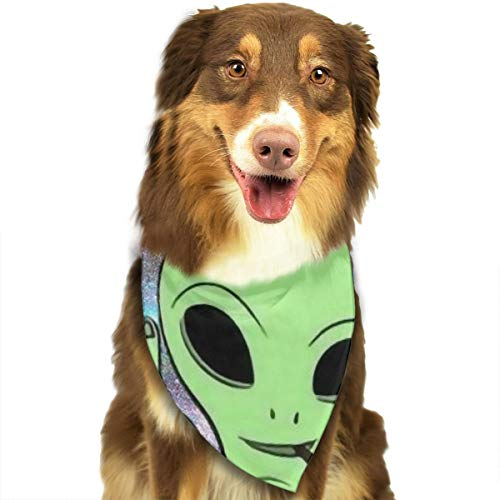 FRTSFLEE Dog Bandana Alien Starry Scarves Accessories Decoration for Pet Cats and Puppies