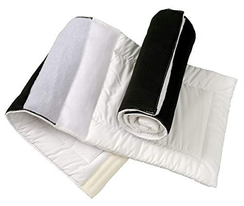 Tough-1 EasyWrap Quilted Combo Wraps Black by Tough-1