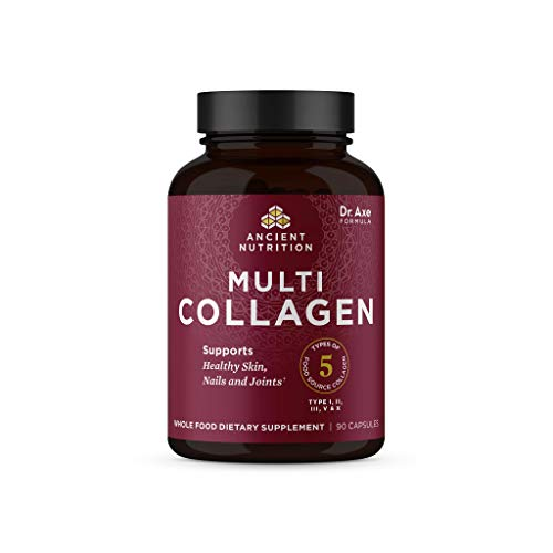 Collagen Peptides Pills by Ancient Nutrition, Hydrolyzed Multi Collagen Supplement, Types I, II, II, V & X, Supports…