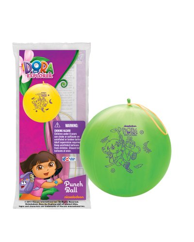 [Pioneer National Latex Dora The Explorer Punch Balls, Set of 6] (Dora Diego And Boots)