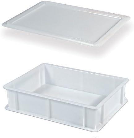 Genus Dei - Caja para masas con tapa, modelo Service, 30 x 40 x 10 cm de alto: Amazon.es: Hogar