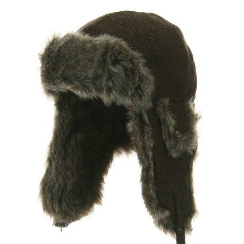 Herringbone Trooper Hat - Brown M-L