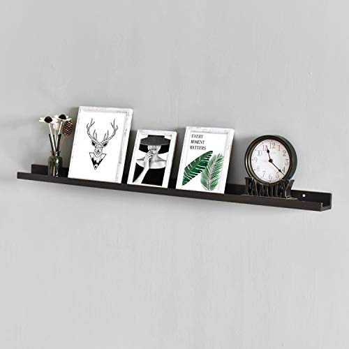 WELLAND Photo Ledge Photo Ledge Shelves, Photo Ledge Wall Shelf (48-inch, Espresso) ()