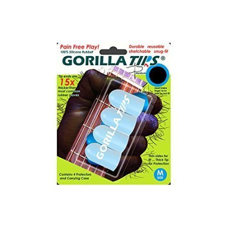 Gorilla Tips Fingertip Protectors Clear Medium by Alfreds