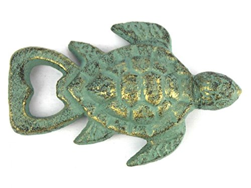 (Hampton Nautical Cast Iron Turtle Bottle Opener, 4.5