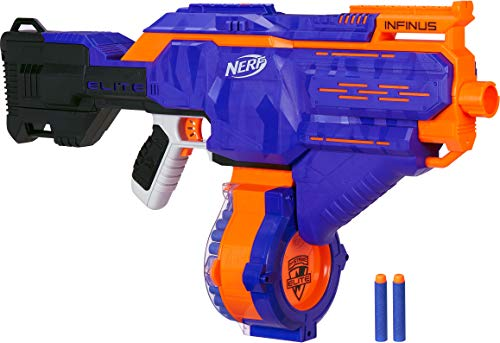 Nerf Guns Elite (Infinus Nerf N-Strike Elite Toy Motorized Blaster with Speed-Load Technology, 30-Dart Drum, and 30 Official Nerf Elite Darts for Kids, Teens, and)