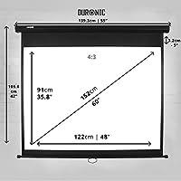 Duronic MPS60 /43 Pantalla de Proyección Enrollable Manual ...