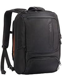 Professional Slim Junior Laptop Backpack (Solid Black)