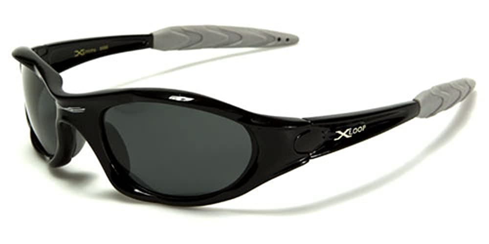 Polarized Xloop Sport Cycling Fishing Golf Wrap Around Running Sunglasses with Monogram Microfiber Pouch