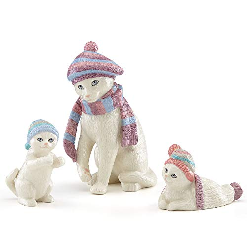 (Lenox Bundled Up Kitties 3 Piece Set Cat Figurine )