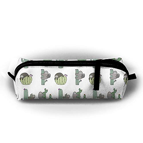 Funny Sloth Cactus Cacti Student's Pencil Holders Case Bag Wallets Pouch Stationery Bag