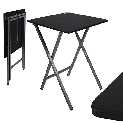 Mesa cuadrado plegable negra 48x48x6