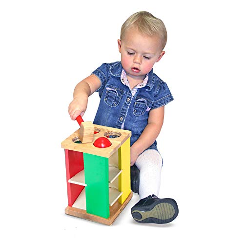 "Melissa & Doug Pound & Roll Tower, Developmental Toy, Classic Pounding Toy, Bright-Colored Pieces, Durable Construction, 10"" H x 5.65"" W by Melissa & Doug (Image #2)"