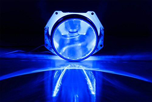 iJDMTOY Ultra Blue 15-SMD High Power LED Demon Eye Halo Ring Kit For Headlight Projectors or 2.5 2.8 3.0 Retrofit Projector Lens