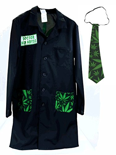 Cannabis Adult Dr Ken Abyss Costume Lab Coat [75175]
