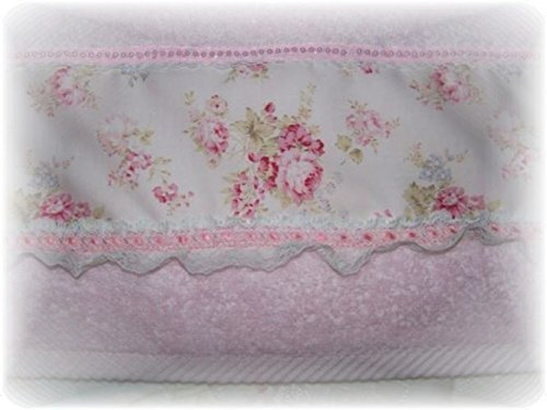 Cottage Chic Style Light Pink Roses Decorative Display Pink Hand Towel