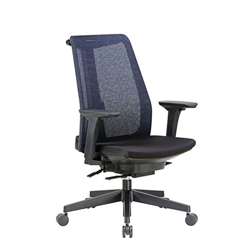 High Back Task Chair With Adjustable Height Arms In Mesh Black Crepe Fabric Seat/Black Mesh Back/Black Frame Dimensions: 27