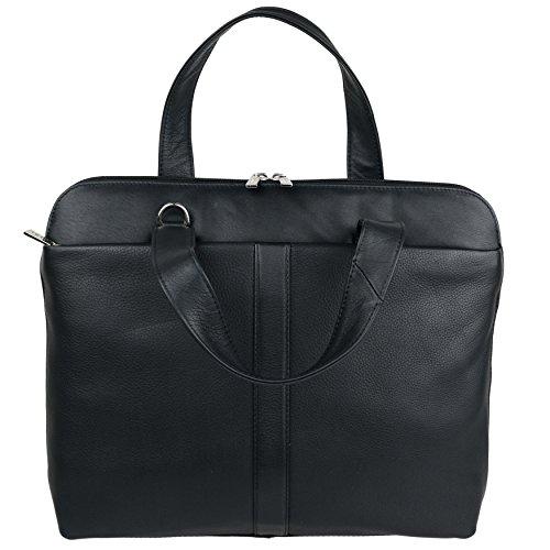 Mala Leather - Bolso de asas para mujer Negro morado negro