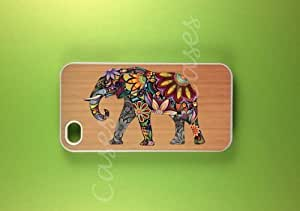 Super Iphone 4 Case - Elephant Art on Wood Iphone Case, Iphone 4s Case