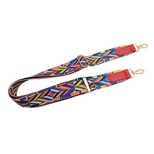 (Simayixx Clearance Women Girls Floral Print Boho Strap Belt for Shoulder Bag Message Bag Crossbody Bag (Multicolor))