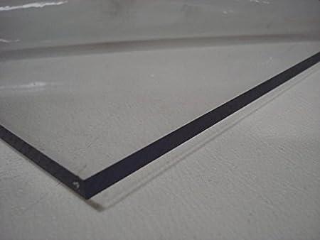 A+H - Lámina de plástico PET similar al plexiglás, 2000 x 1000 x 2 mm con lámina protectora en ambos lados
