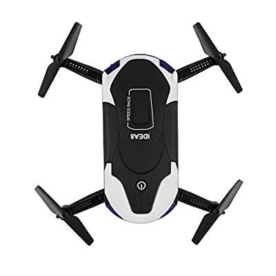 Leewa@ IDEA8 Altitude Hold HD Camera 2.0MP WIFI FPV RC Quadcopter Drone Selfie Foldable -Black+White by Leewa