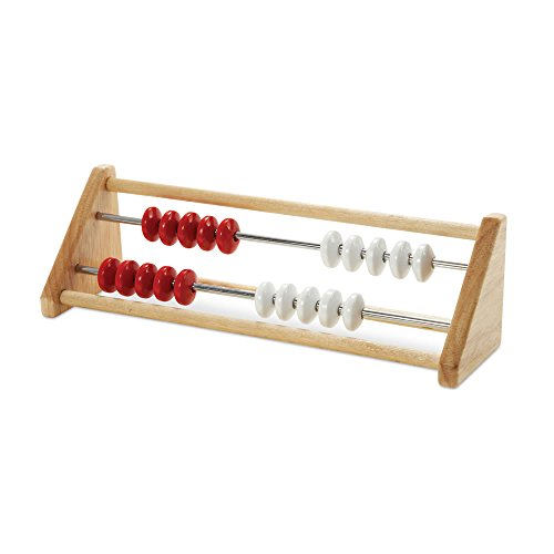 hand2mind 20-Bead Wood Rekenrek, Math Counting Frame (Ages 4+) (Row Abacus)