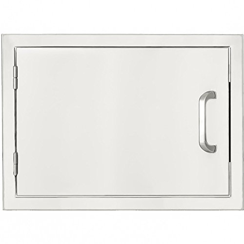 Mounted Single Drawers Flush (BBQGuys.com Kingston Series 20-inch Stainless Steel Left-hinged Single Access Door - Horizontal)