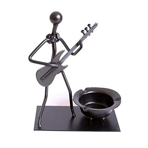 DAVITU 2 Designs Lonely Musician Metal Sculpture Ashtray Exquisite Musician Iron Art Ashtray Decoration Craft for Living Room $ Bedroom - (Color: Design A) - Musician Ceramic Figurine