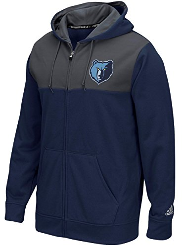 fan products of NBA Memphis Grizzlies Men's Tip-Off Full Zip Hoodie, Medium, Navy