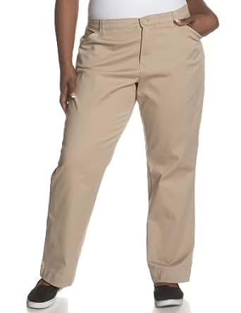 Lee Women's Plus-Size Comfort Fit Straight Leg Pant, Light Khaki, 22W Medium