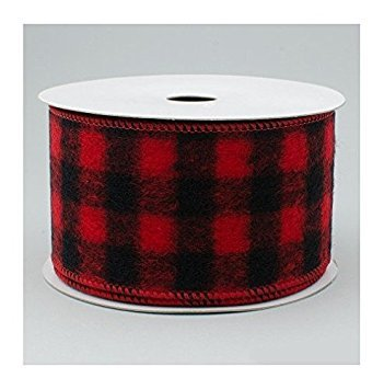 (Wired Buffalo Plaid Ribbon, 2.5