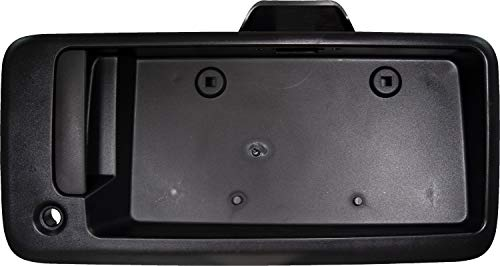 APDTY 112812 Exterior Rear Right Cargo Door Handle License Plate Bracket Holder Black Plastic Fits 1996-2015 Chevy Express or GMC Savana 1500 2500 3500 Van (Replaces 25989400, 15167638, 15269298) 1997 Chevy Express 2500 Van