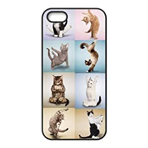 Yoga Cats The Unique Printing Art Custom Phone Case for Iphone 5,5S,diy cover case ygtg572818