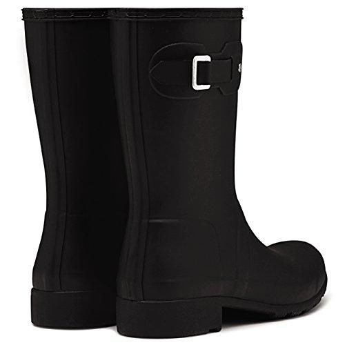 Hunter Womens Original Tour Short Packable Rain Boots Black 5 M US mK2QTY