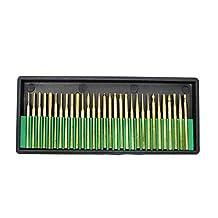 Preamer 30 Pics Titanium Coated Diamond Grinding Burr Bits Set For Dremel Rotary tools