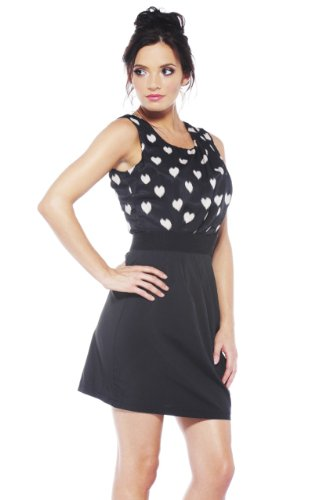 2 in 1 black and white dress - 6
