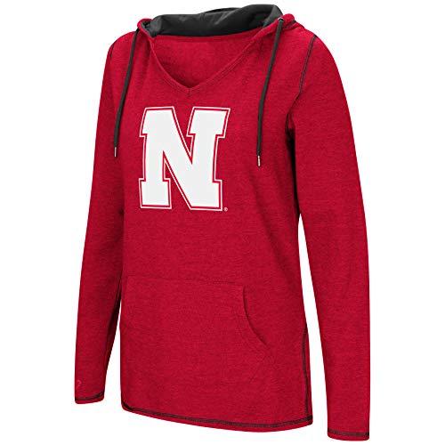 AA-Scream It!- Dual Blend-Fleece V-Neck Hoodie Pullover Sweatshirt-Nebraska Cornhuskers-Scarlet-Medium ()