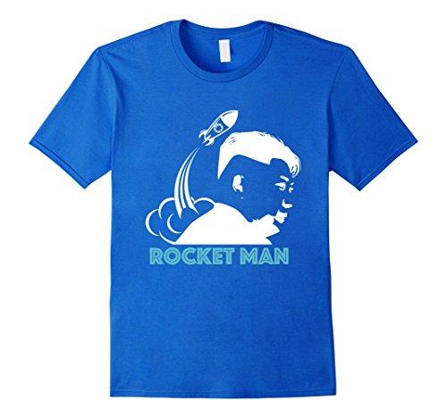Mens Funny Rocket Man Kim Jong Un T-Shirt North Korea Trump Small Royal Blue