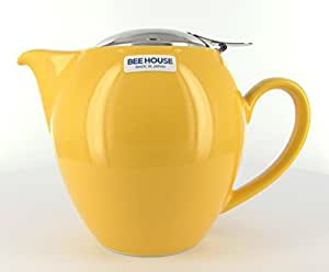 Round Yellow Teapot 22 Ounces