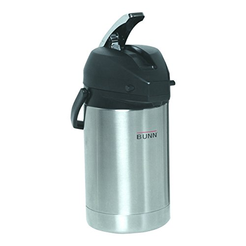 - BUNN 32125.0000 2.5 Liter Lever-Action Airpot, Stainless Steel