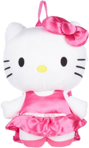 "Plush Backpack - Hello Kitty - Satin Pink Dress 15"" New Soft Doll Toys 68219"