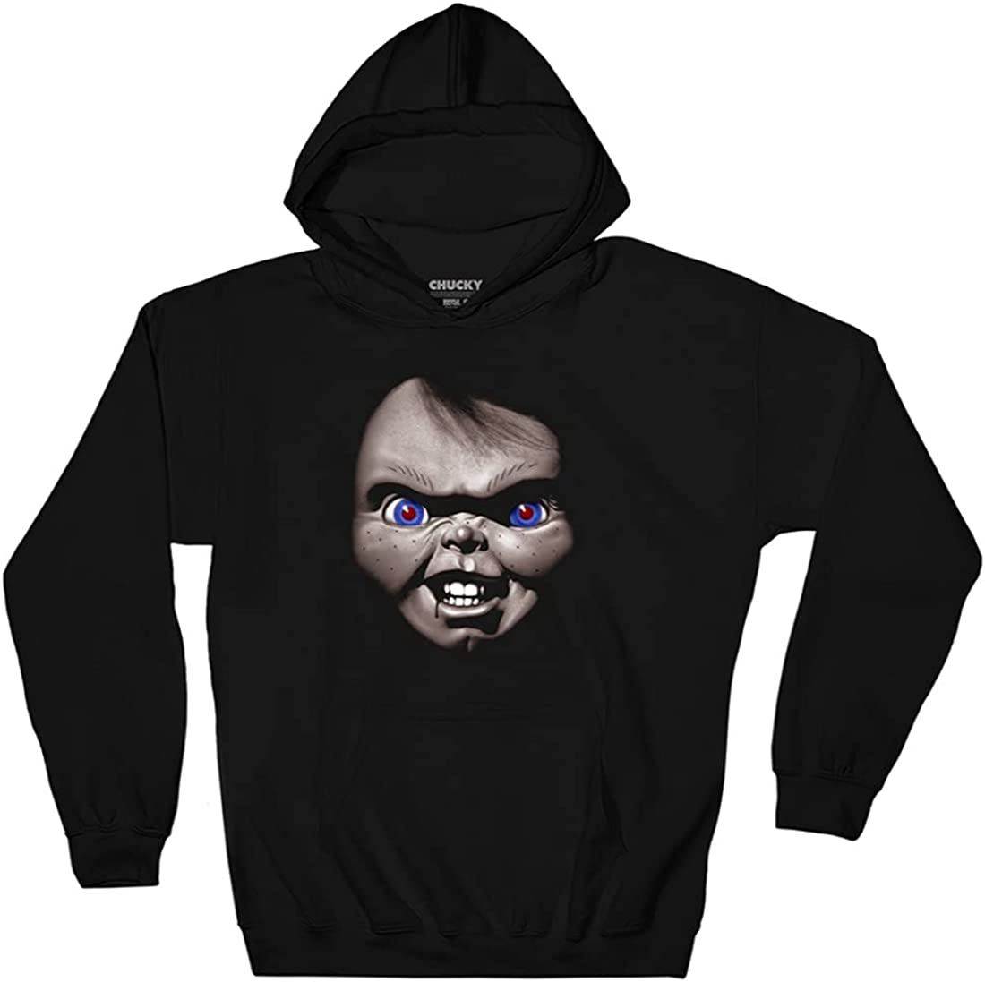 Ripple Junction Chucky Adult Japan's Safety and trust largest assortment Unisex Fleece Face Over Pull Hoodie