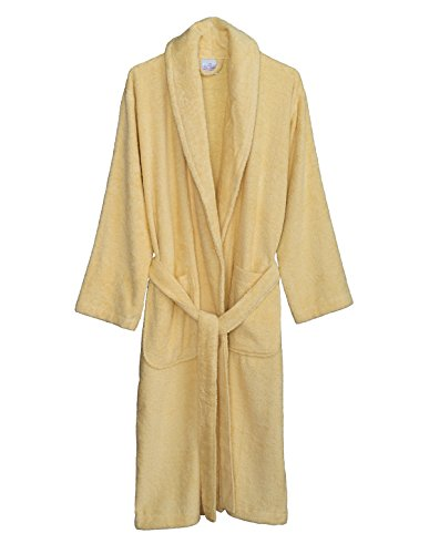 TowelSelections Women's Robe, Turkish Cotton Terry Shawl Bathrobe Large/X-Large Sunlight