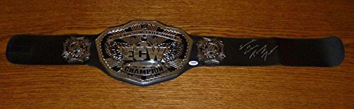 Tommy Dreamer Signed WWE ECW Championship Belt COA Autograph Mattel Kids - PSA/DNA Certified - Autographed Wrestling Robes, Trunks and Belts